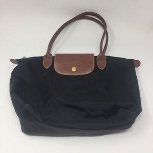 Longchamp LePliage Small Shoulder Bag Black